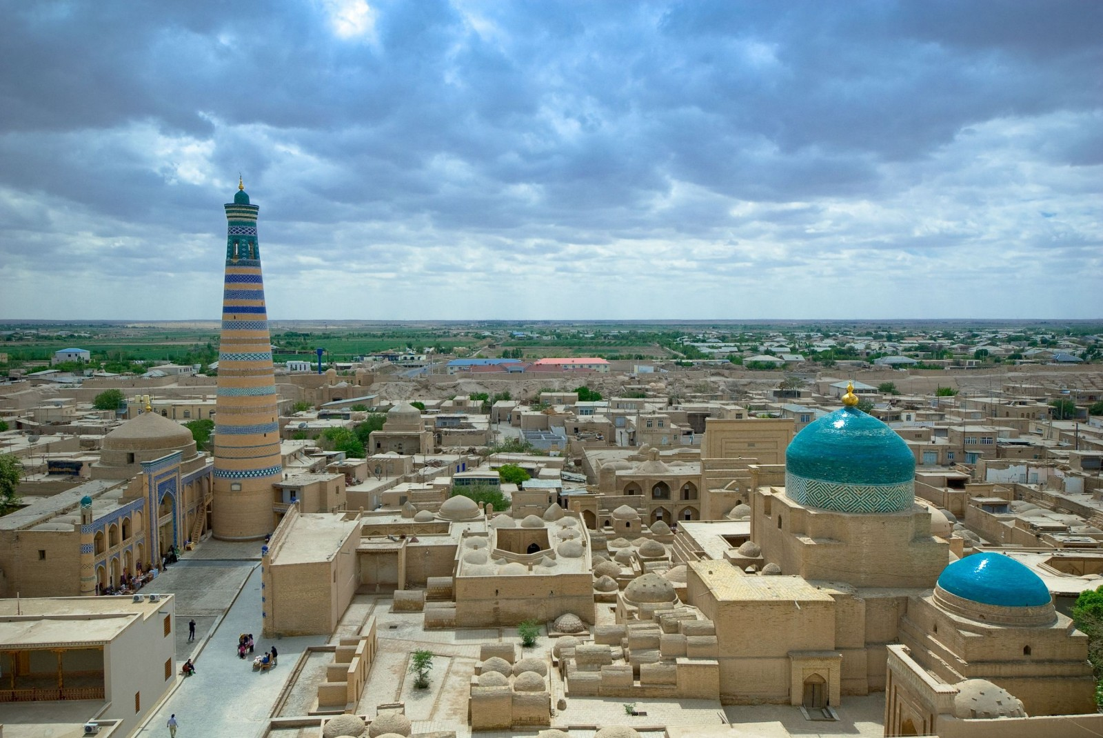 panorama view of an ancient city of khiva uzbekistan1